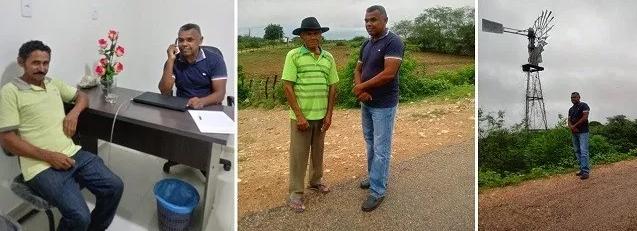 Resultado de imagem para João Câmara: Vereador Renda visita comunidade do Valentim e constata consumo de água de barreiro