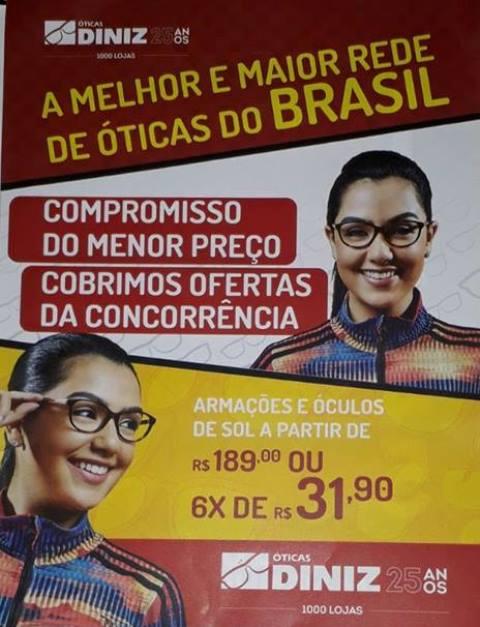 ÓTICAS DINIZ JOÃO CÂMARA RN – As ÓTICA DINIZ em João Câmara RN, vai  realizar o seu sonho neste Natal. Compre qualquer produto na maior rede de  óticas do ... 8ef30fd747