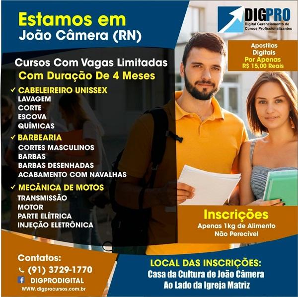 71edccf8526ca OPORTUNIDADE  Chegou em João câmara e região a DIGPRO Cursos  Profissionalizantes.